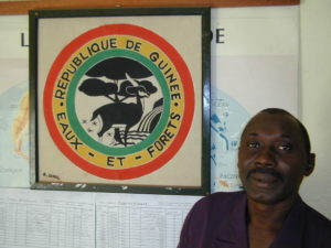 Kamara Mamdou Karomoko, in charge of Guinean government's efforts to rehabilitate the areas devastated by the refugees