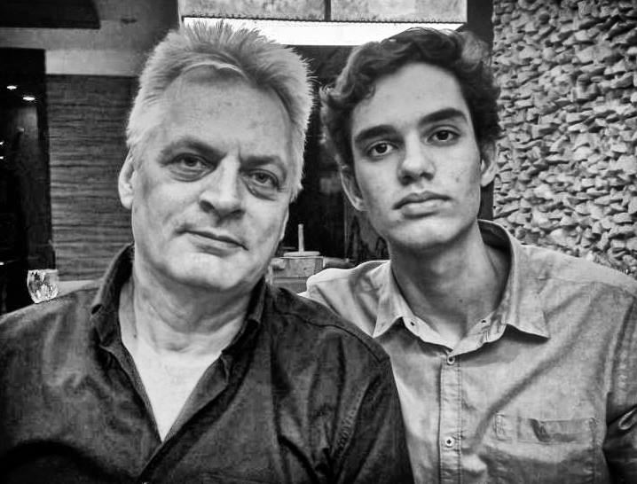 Wouter van Oosterhout and his son