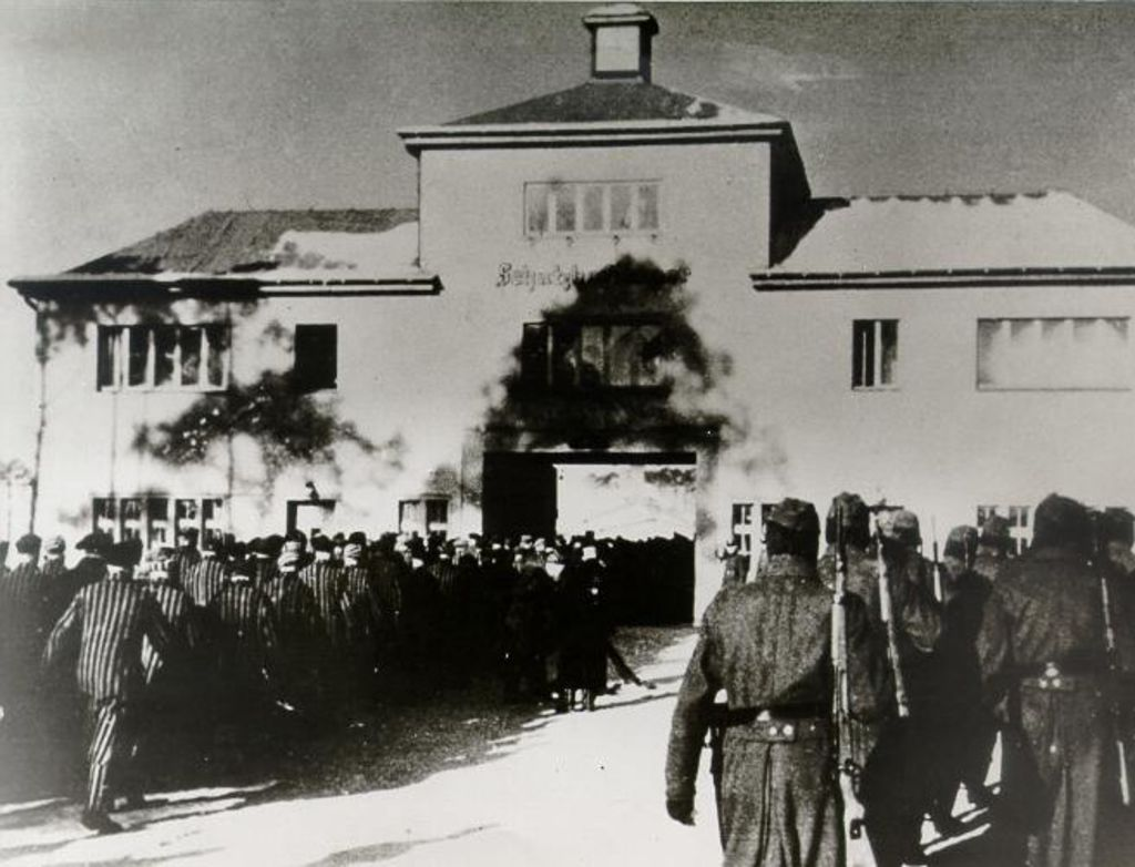 Entrance Gate at Sachsenhausen Concentration Camp (DHM)