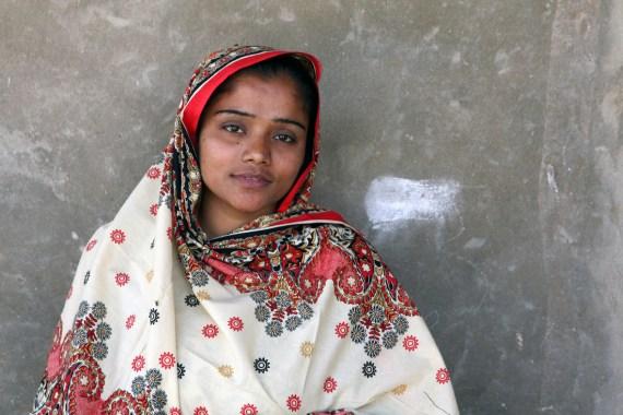 Safia Bhatti, a teaching assistant in Pakistan
