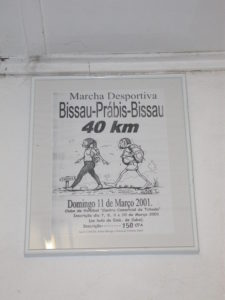 Poster advertising the Bissau-Prábis walk