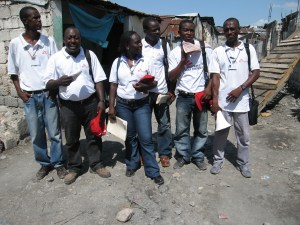 MSF team in the Salines slum