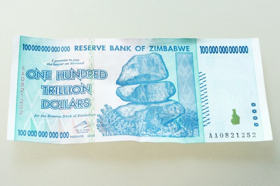 One hundred trillion Zim dollars