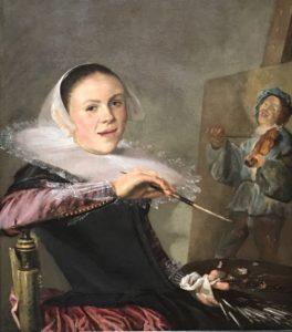 Judith Lyster, self portrait