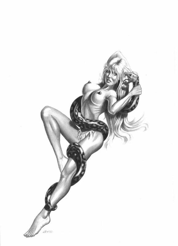 рисунки девушки сексуальные