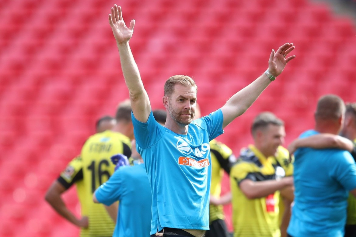Simon Weaver 'ecstatic' as Wembley win takes Harrogate up to League Two