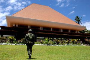Parliamentary buildings in Suva.