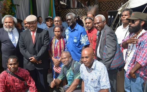 Solomons PM Manaseh Sogavare and leaders of the United Liberation Movement for West Papua (ULMWP)
