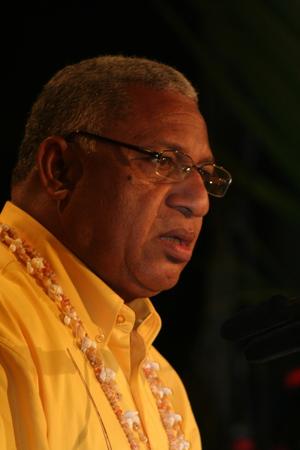 Fiji prime minister Frank Bainimarama