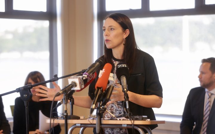 Jacinda Ardern announcing the mandatory phase out of single-use plastic bags.