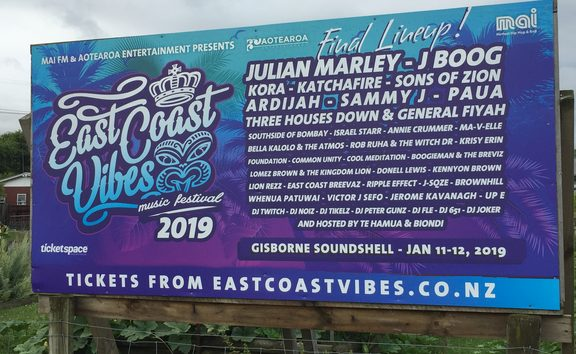 Julian Marley headlined East Coast Vibes in Gisborne last month - with Common Unity on the bill too (in smaller print . . .)