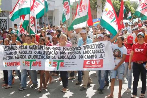 Ato em favor de Lula hoje em Afogados da Ingazeira