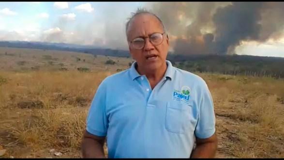 Em vídeo, repórter Celso Brandão fala do drama do incêndio em Ingazeira