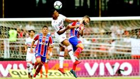 São Paulo e Bahia empatam na despedida de Lugano no Morumbi