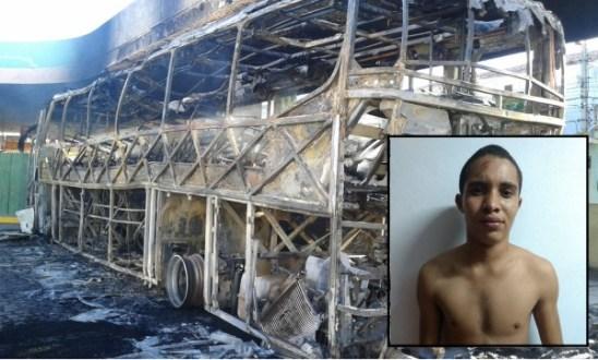 Incêndio contra ônibus da Progresso em Tabira foi intencional. Acusado foi preso