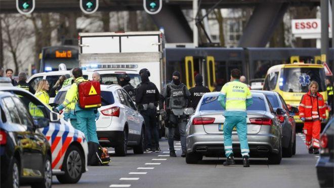 Tiroteio deixa vários feridos na cidade holandesa de Utrecht