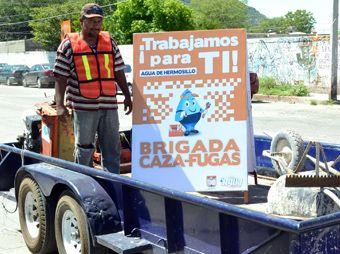 "Brigada ""Cazafugas de agua"" ha reparado 372 fugas en Hermosillo"
