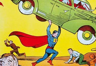Publicado en 1938, esta joya para los amantes de los cómics es una de las pocas copias que todavía se conservan del primer número de la serie Action Comics 1 .