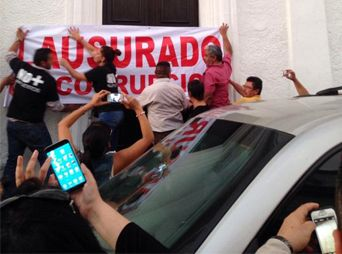 Toman organizaciones ciudadanas Palacio de Gobierno de Sonora