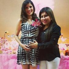 Anahí con su amiga Fher Guajardo, en uno de sus Baby Showers. ¡Muchas felicidades!