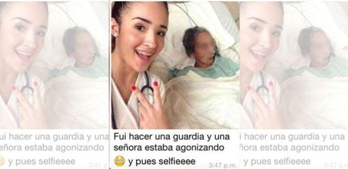 Estudiante de Medicina se toma selfie con paciente agonizante
