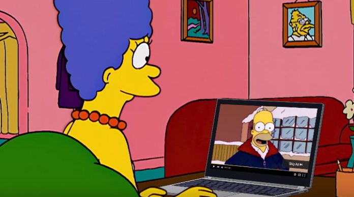 Homero Simpson promociona a Google AdWords