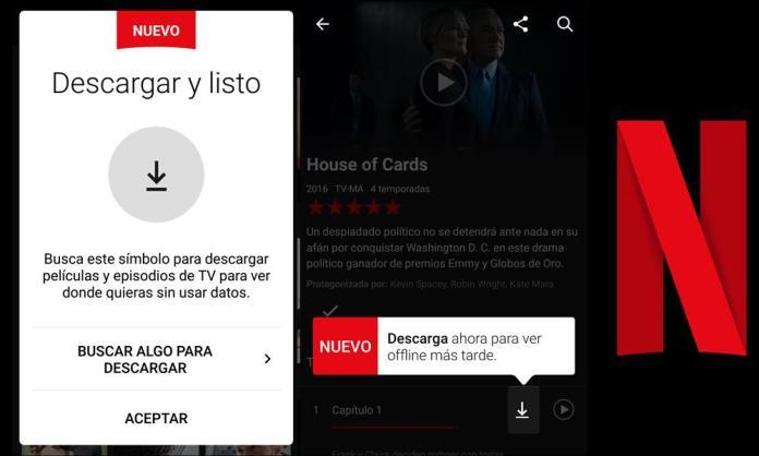 Ya es posible descargar peliculas y series de Netflix