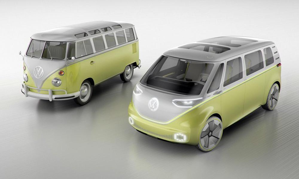 esta es la id buzz la volkswagen combi 2025 con cela. Black Bedroom Furniture Sets. Home Design Ideas