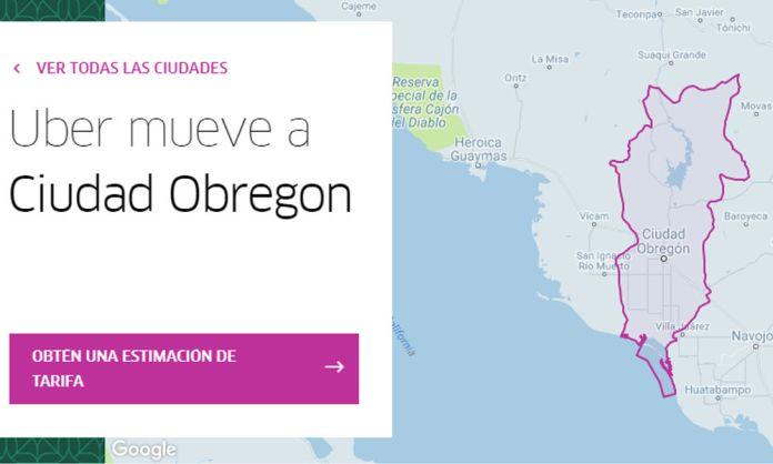 usar Uber en Ciudad Obregon