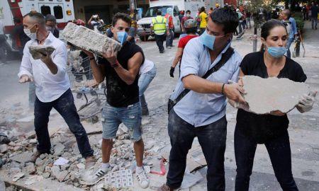 Fotos vídeos sismo en México