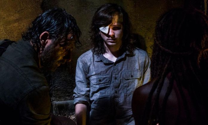 Muerte de Carl en The Walking Dead