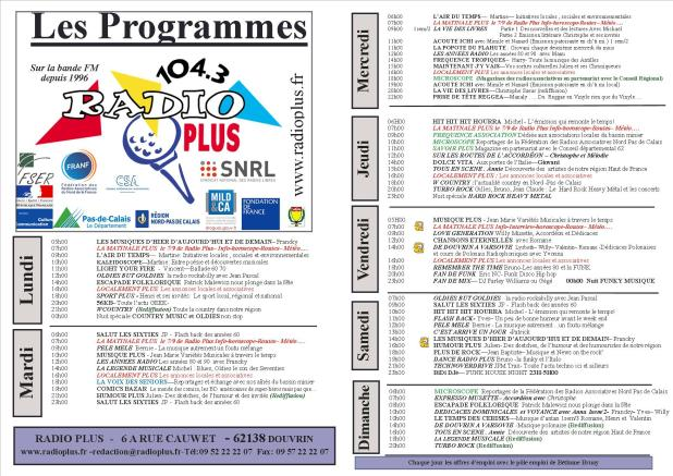 GRILLE PROGRAMME 2016