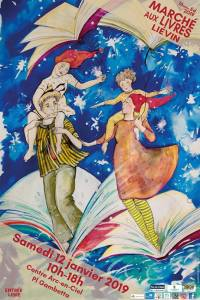 Affiche 16ème édition du Marché aux Livres de Liévin