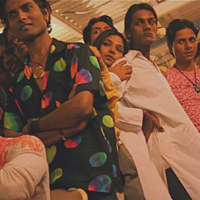 Men and women get ready for Humsafars weekly drag show in Mumbai.    Source: (c) 2009 Abbie Fentress Swanson