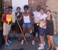 Its lots of New Orleans Womens Health Clinic staff and volunteers renovating the clinic. Source: INCITE!