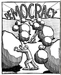 Source: OBSTACLES TO DEMOCRACY by Ed Kinane at www.peacecouncil.net