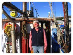 Salmon and crab fisher Pietro Parravano on his vessel, the Anne B., in Half Moon Bay, California. Source: Phillip Babich