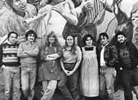 "Chilean wind ensemble ""Grupo Raiz"" in the early 1980s. Source: www.hollynear.com"