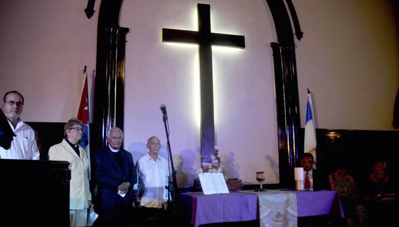 Tributo a Fidel en la Primera Iglesia Presbiteriana Reformada de La Habana, en Cuba, el 1 de diciembre de 2016. ACN FOTO/ Oriol de la Cruz