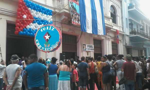 Homenaje de la Central de Trabajadores de Cuba a Fidel en su 90 cumpleaños . Foto: Carlos Serpa
