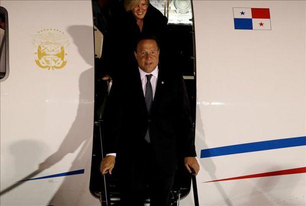 En Cuba el presidente de Panamá Juan Carlos Varela. Foto: AIN