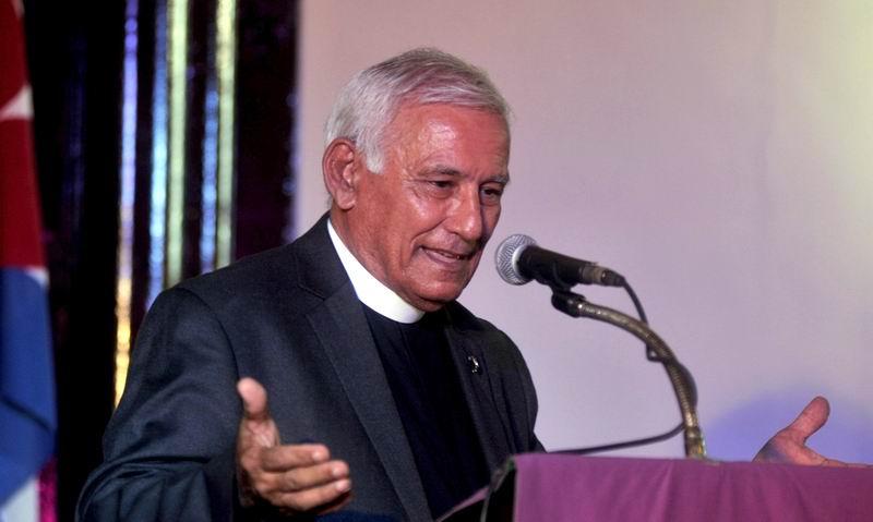 Reverendo Odén Marichal, durante el Tributo a Fidel, en la Primera Iglesia Presbiteriana Reformada de La Habana, en Cuba, el 1 de diciembre de 2016. ACN FOTO/ Oriol de la Cruz