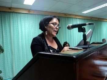 El plenoeligió y aprobó para desempañar esas funciones a la compañera Nidia García Berenguera. Foto José Cabrera Peinado