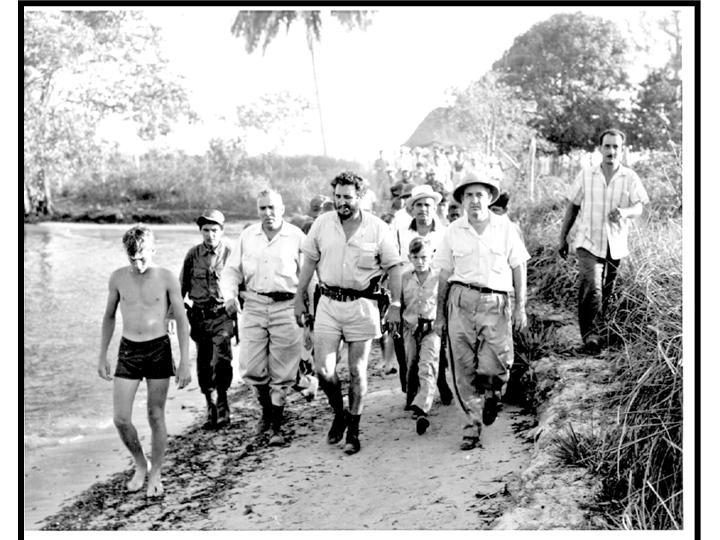 Fidel Castro visita a El Caletón