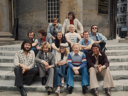 Here can be seen a photograph of early 1970's  Radio 1 disc jockeys  outside all Saints Church. From back row, (L-R); Paul Gambaccini, Ed Stewart, John Peel, Simon Bates, Paul Burnett, Jimmy Savile, Tom Browne, Alan freeman, Dave Lee Travis, Noel Edmonds, Annie Nightingale, David Hamilton and Tony Blackburn.