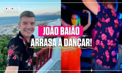 João Baião a dançar com bailarina