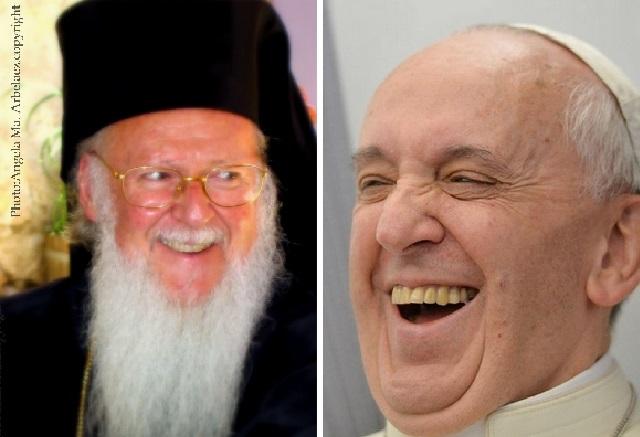 Dos sonrisas de Esperanza. Encuentro del  Papa Francisco y Patriarca Ecumémico Bartolomeo I