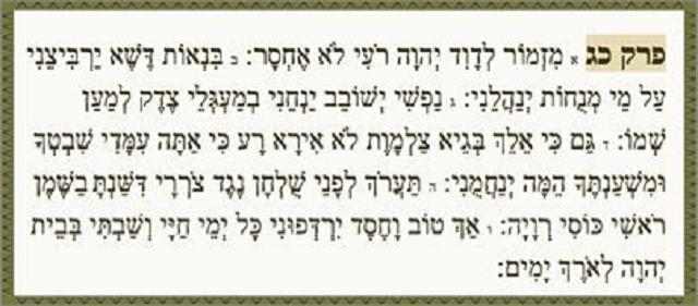 Salmo 23: El Señor es mi pastor; nada me falta