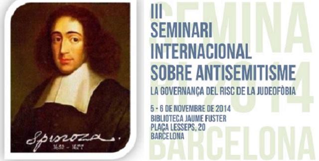 El III Seminario Internacional sobre Antisemitismo de Barcelona, con su director científico, Xavier Torrens