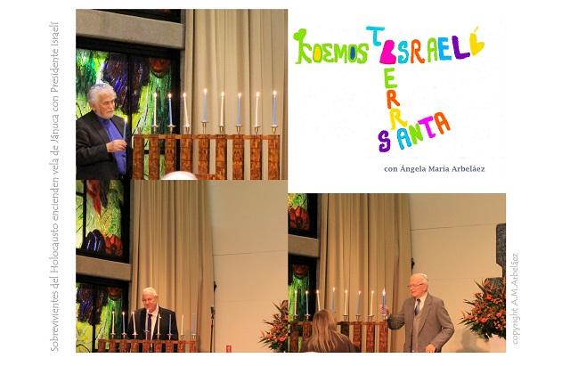Sobrevivientes del holocausto con el presidente Rivlin & que brille la luz de la concordia y la paz. Felices Navidades y Janucá desde Israel